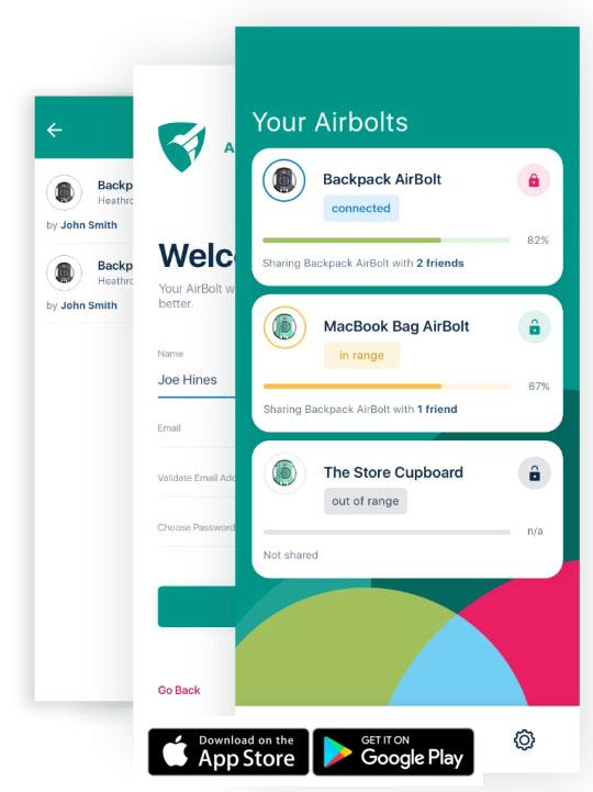 Airbolt mobile app