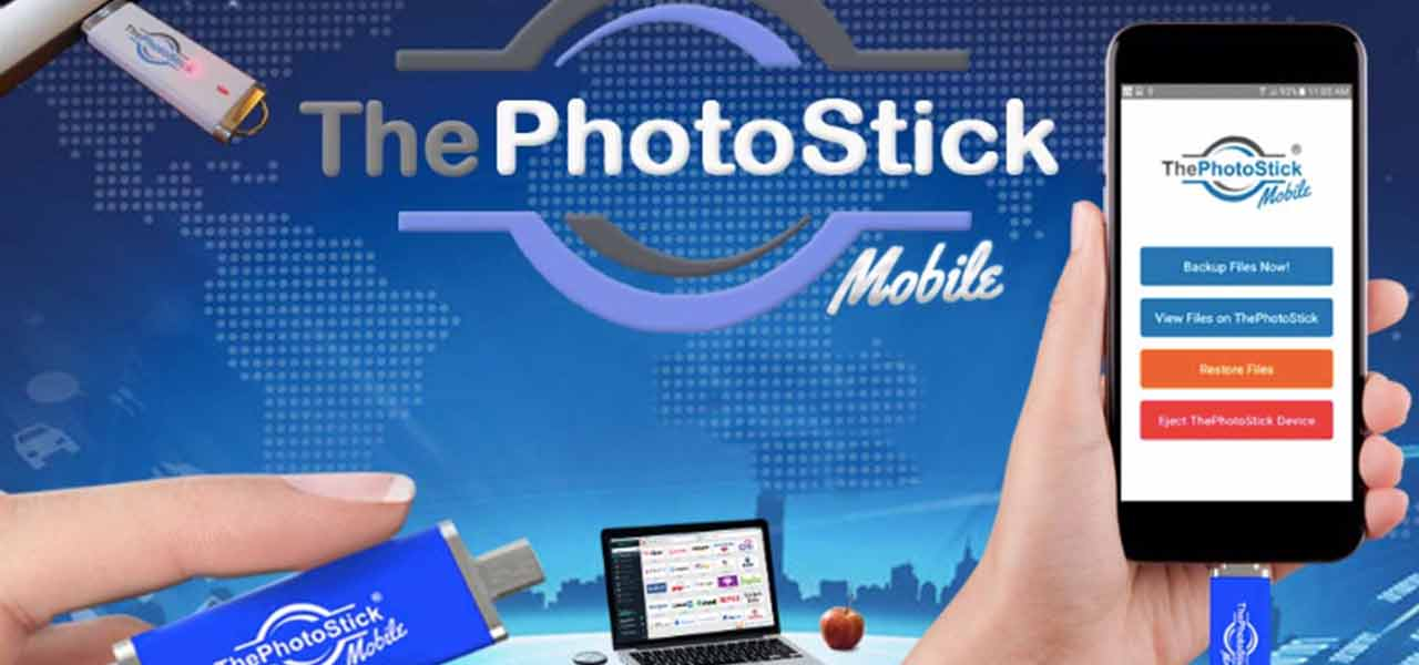 Back up your mobile photos and videos and free up space in 1 click with the PhotoStick Mobile