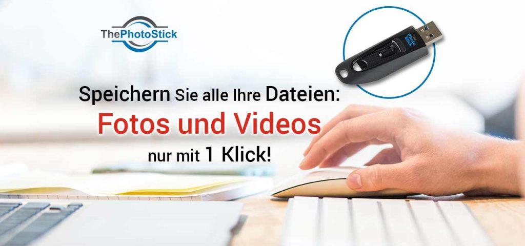 Für die sichere Aufbewahrung von Bildern und Videos