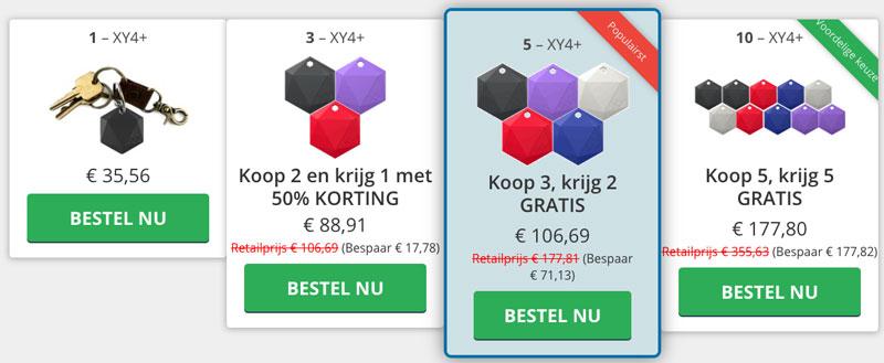 bluetooth tracker prijs