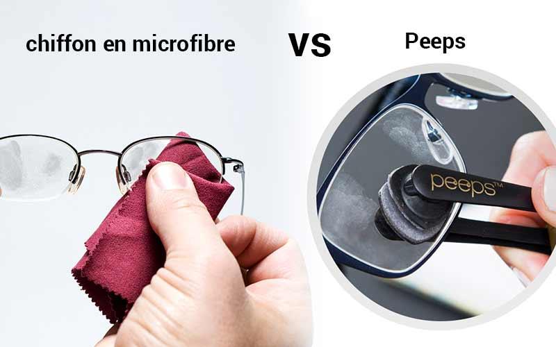 chiffon en microfibre vs peeps