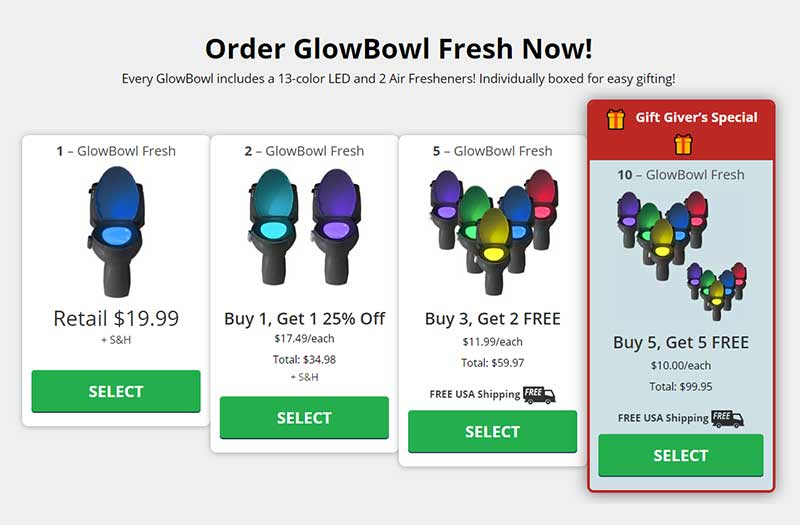glow bowl prix