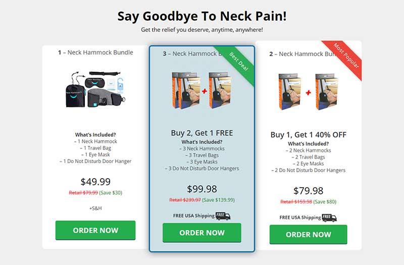 neck hammock prezzo